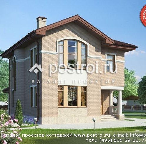 Двоповерховий проект будинку з