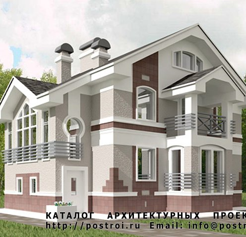проект дома мансардного типа