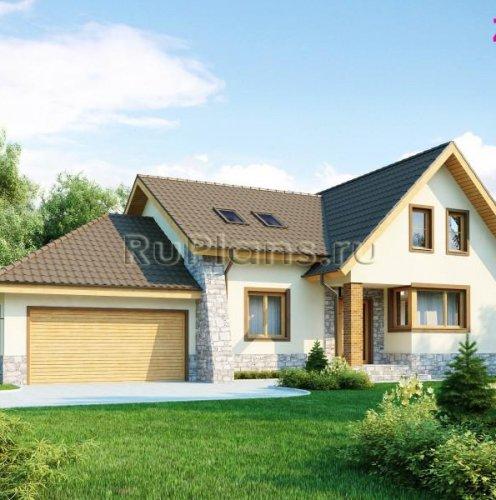 Проект будинку з гаражем та