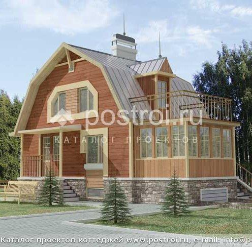 Проект будинку з мансардою і