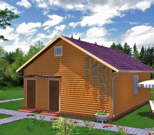 Проект одноэтажного каркасного