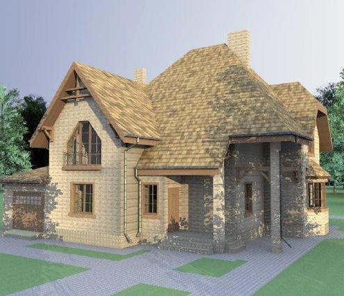 Проект цегляного будинку з