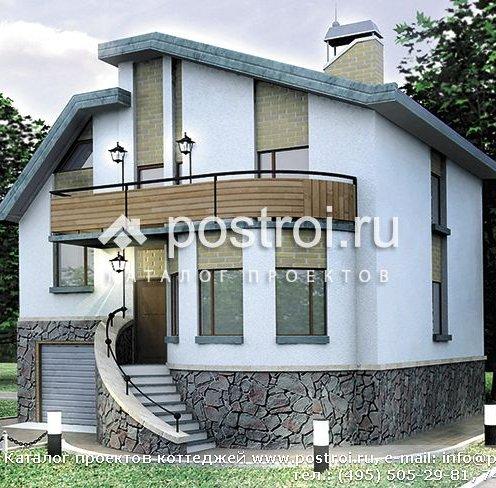 Проект будинку з garazhom з