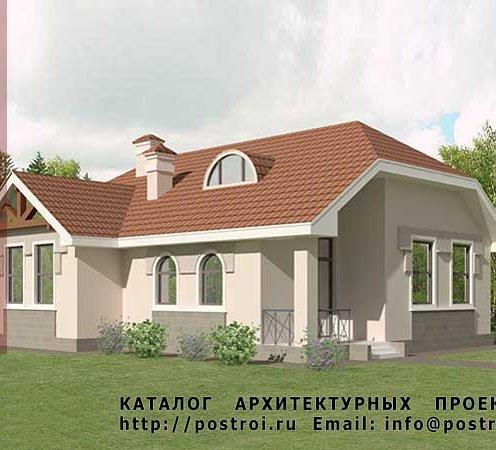 Дом из кирпича № K93