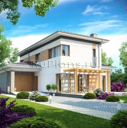 Современный двухэтажный дом в